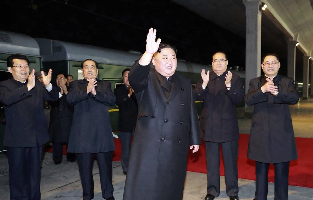 Hình ảnh nhà lãnh đạo Triều Tiên Kim Jong-un lên đường sang Nga. (Nguồn: AP)