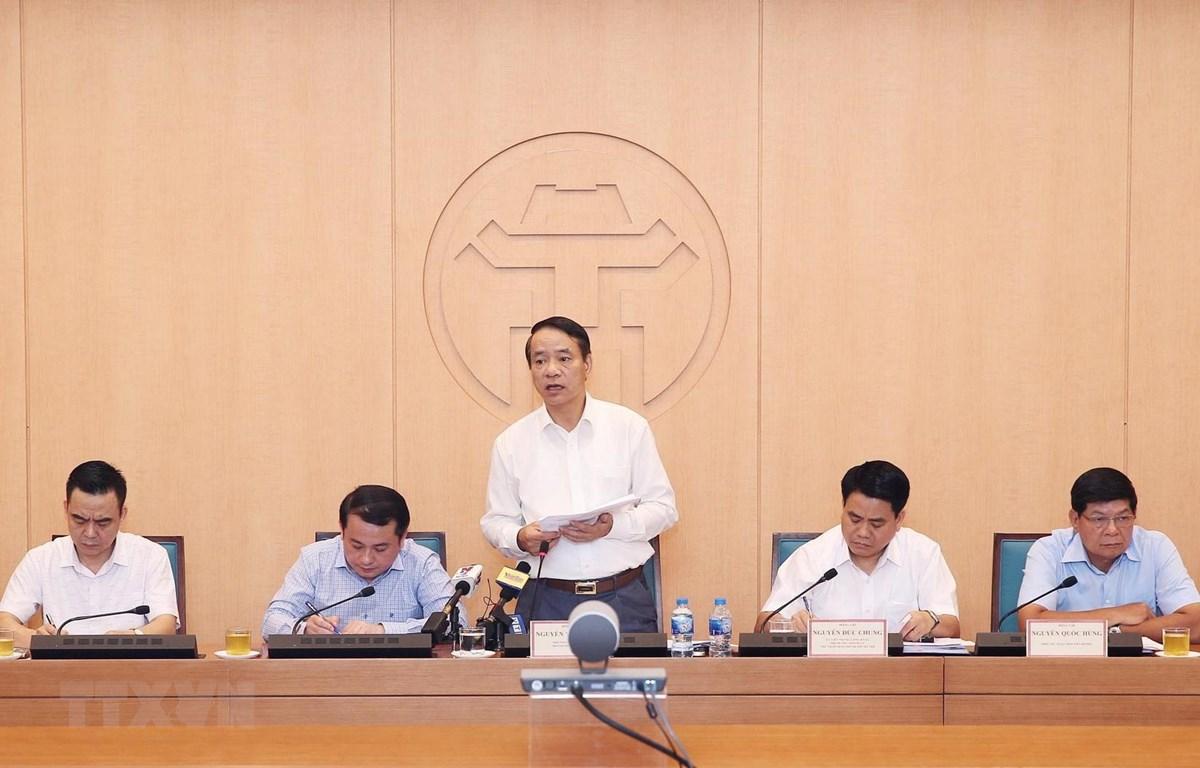 Phó Tổng Thanh tra Chính phủ Nguyễn Văn Thanh chủ trì buổi thông báo. Ảnh: Lâm Khánh/TTXVN)