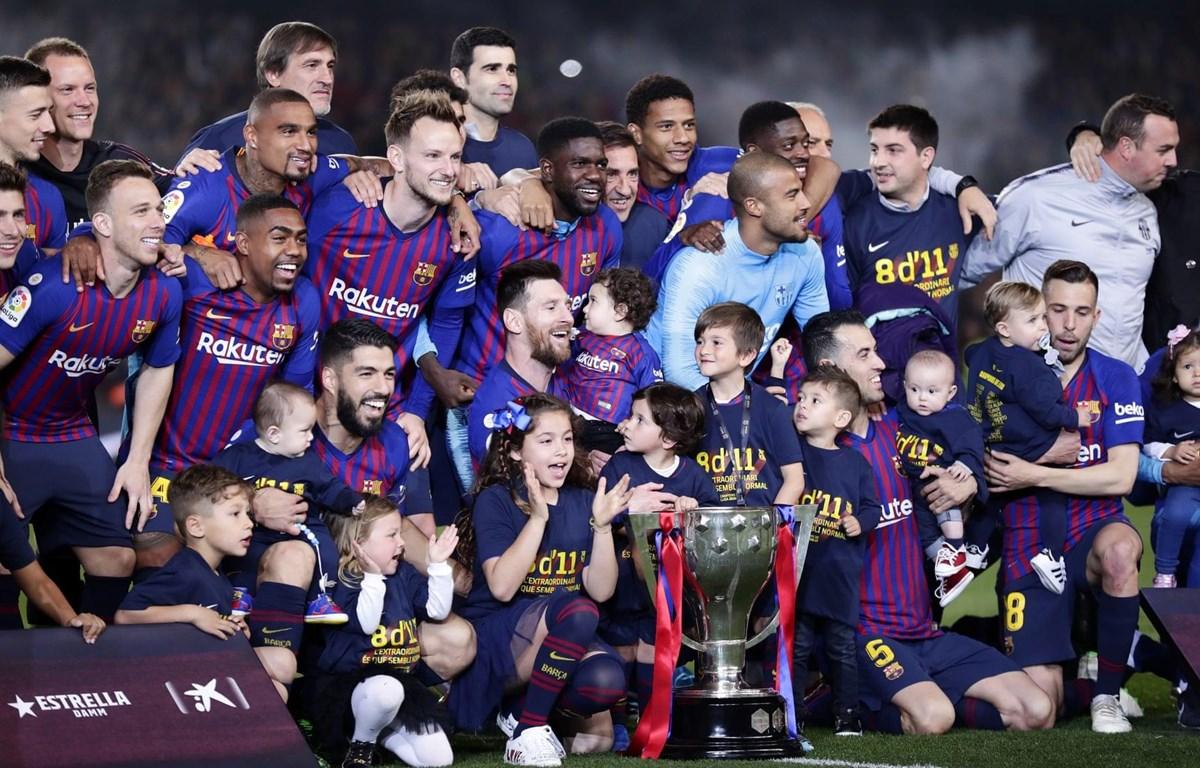Barcelona lần thứ 26 lên ngôi La Liga. (Nguồn: AP)