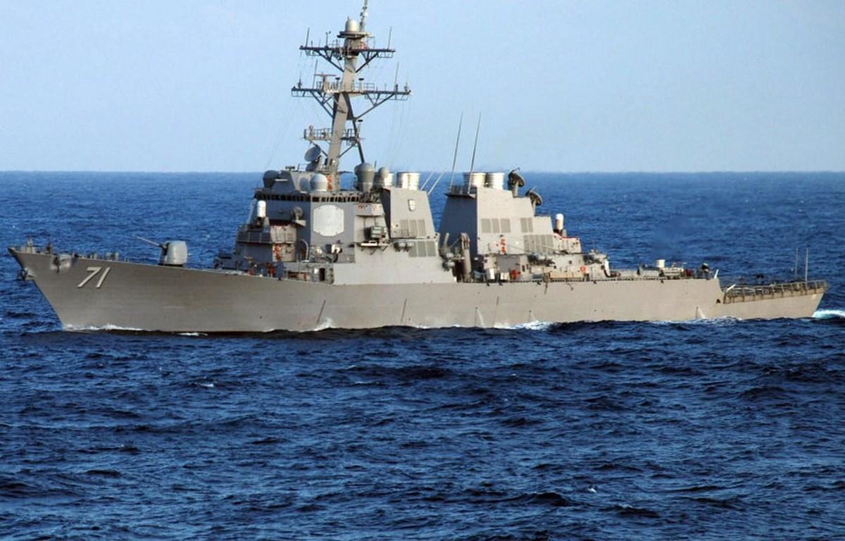 Tàu khu trục U.S.S. Ross của Mỹ. (Nguồn: AFP)