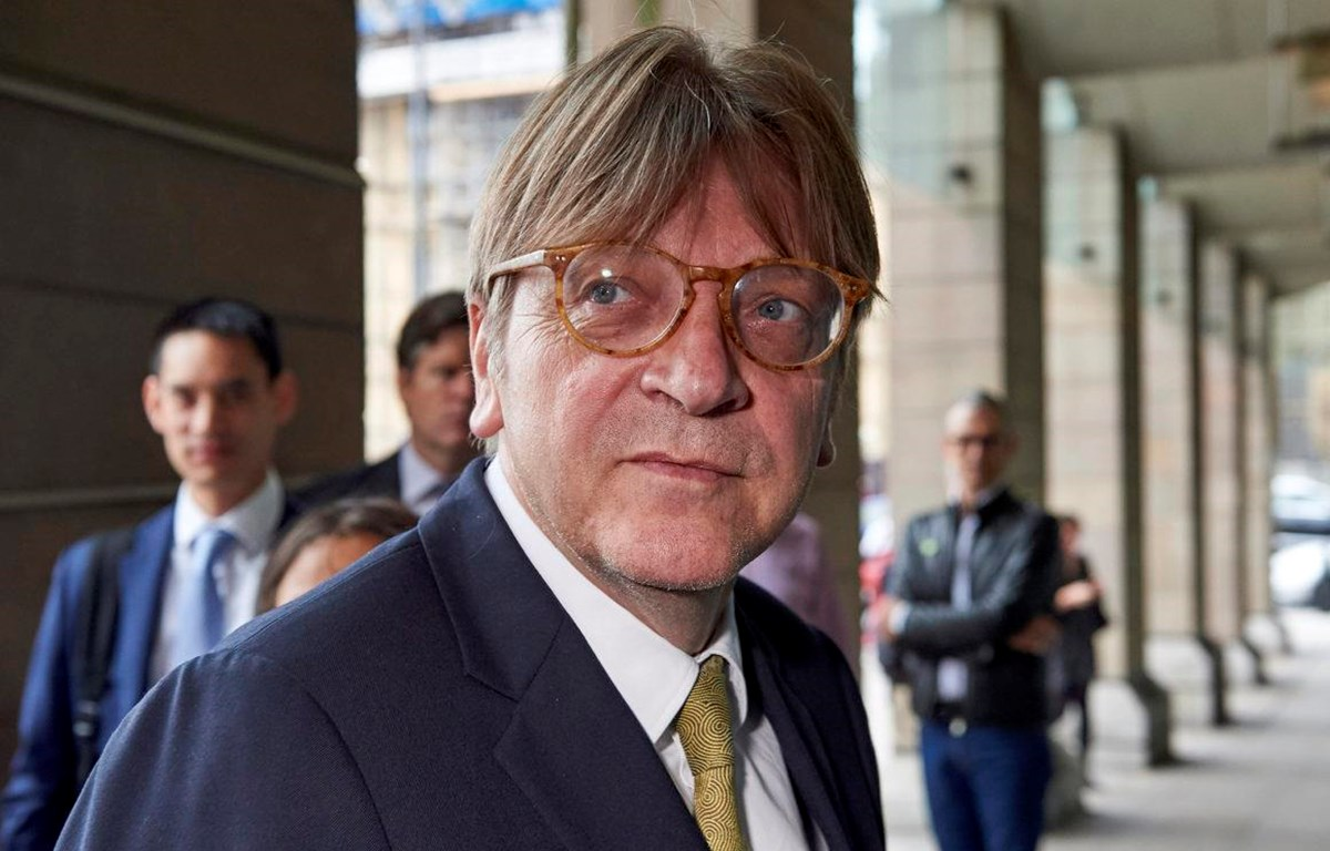 Lãnh đạo của nhóm đảng chính trị Tự do và Dân chủ châu Âu, Guy Verhofstadt. (Nguồn: politico.eu)