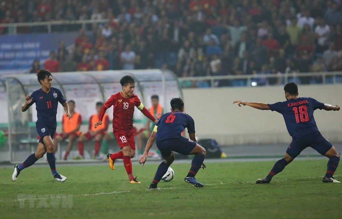 Quang Hải và tuyển Việt Nam sẽ đối đầu Thái Lan? (Ảnh: Trọng Đạt/TTXVN)