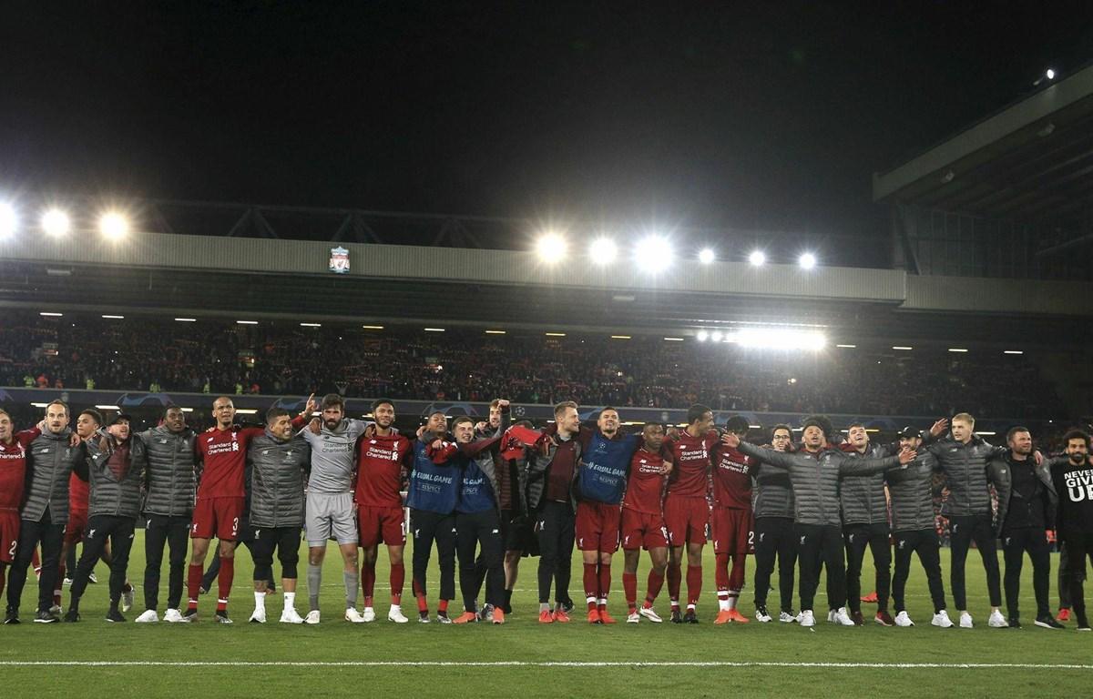 Liverpool hát vang bài hát truyền thống. (Nguồn: Getty Images)