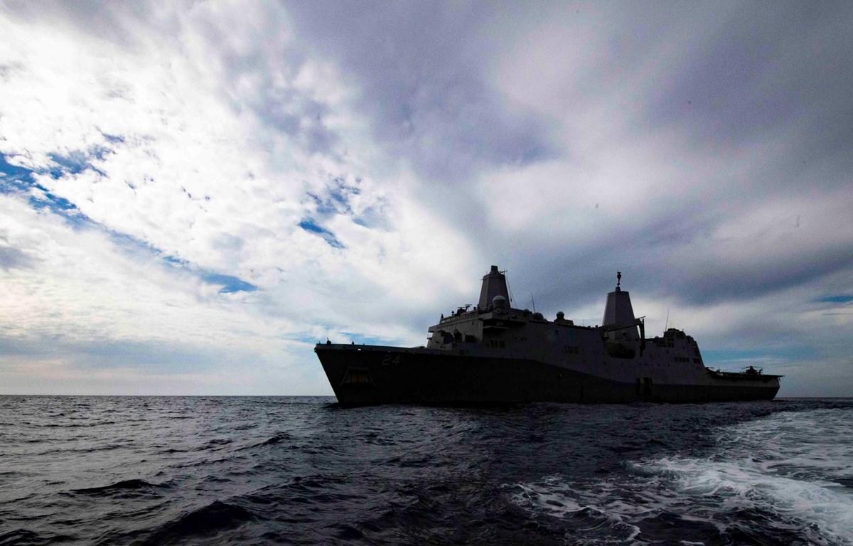 Tàu đổ bộ USS Arlington. (Nguồn: news.usni.org)