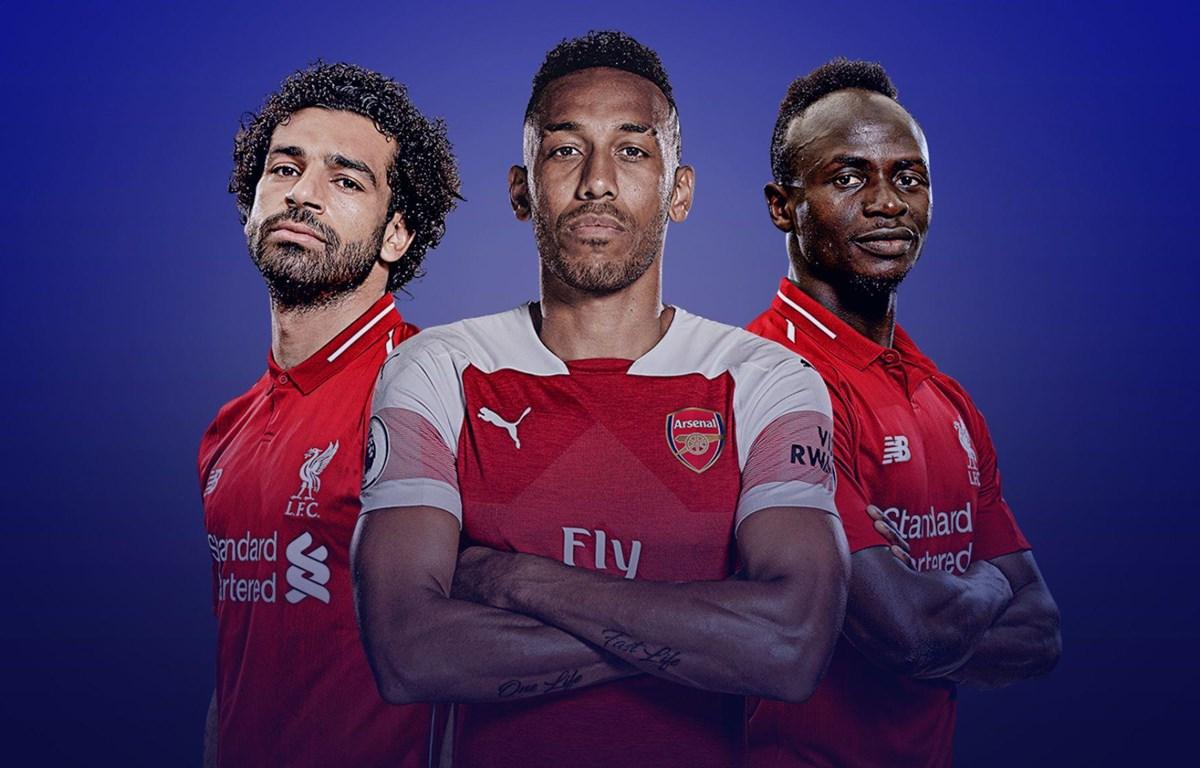 Salah, Mane và Aubameyang chia nhau danh hiệu Vua phá lưới