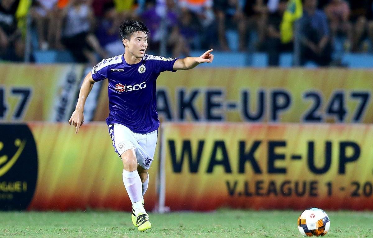 Duy Mạnh trong màu áo Hà Nội FC. (Nguồn: Hanoifc)