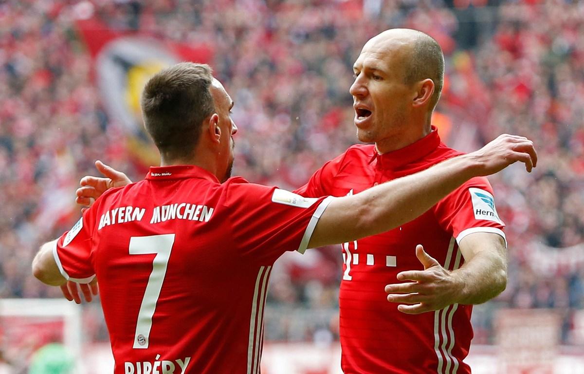 Arjen Robben và Franck Ribéry đã có những đóng góp không nhỏ cho Bayern. (Nguồn: Getty Images)