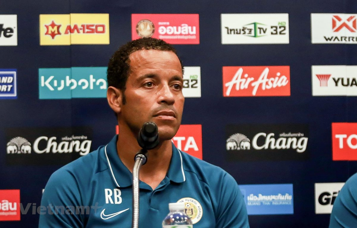 Huấn luyện viên Remko Bicentini của Curacao. (Ảnh: Nguyên An/?Vietnam+)