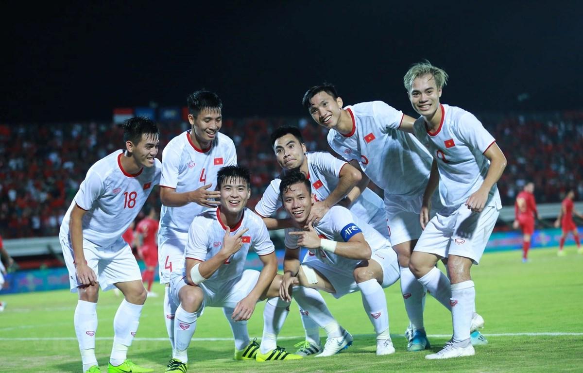 Việt Nam giành chiến thắng trước Indonesia. (Ảnh: Bá Huỳnh/Vietnam+)