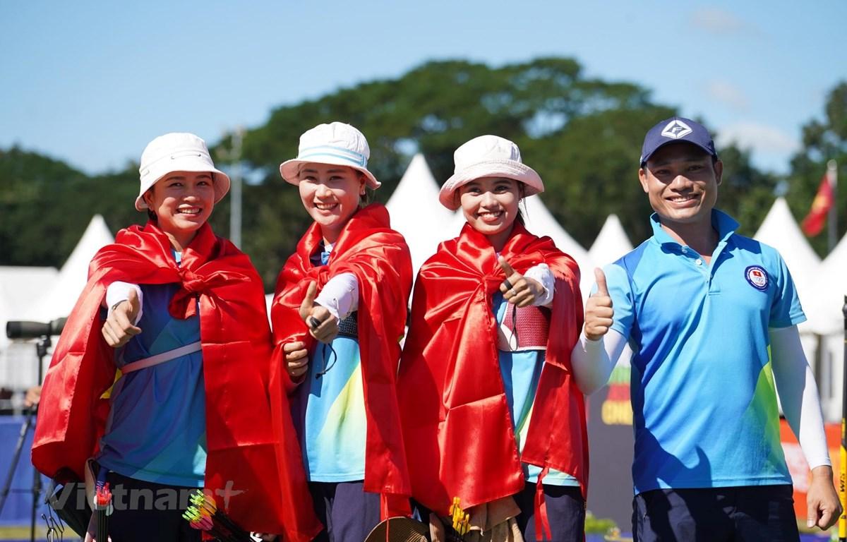 Bắn cung Việt Nam có huy chương Vàng đầu tiên. (Ảnh: Vietnam+)