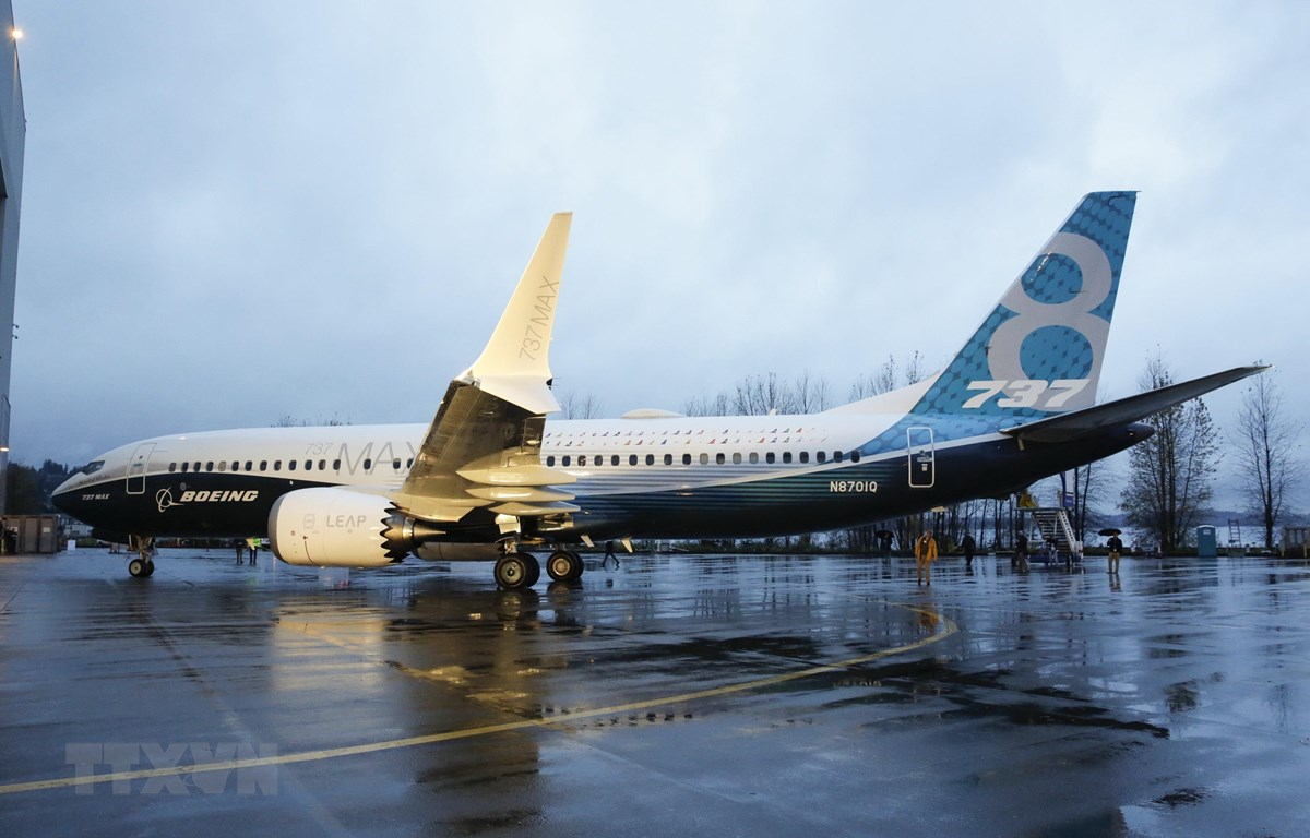 Máy bay 737 MAX của Boeing tại nhà máy ở Renton, Washington, Mỹ. (Ảnh: AFP/TTXVN)