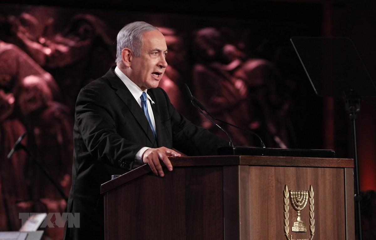 Thủ tướng Israel Benjamin Netanyahu ngợi ca kế hoạch của Mỹ. (Ảnh: THX/TTXVN)