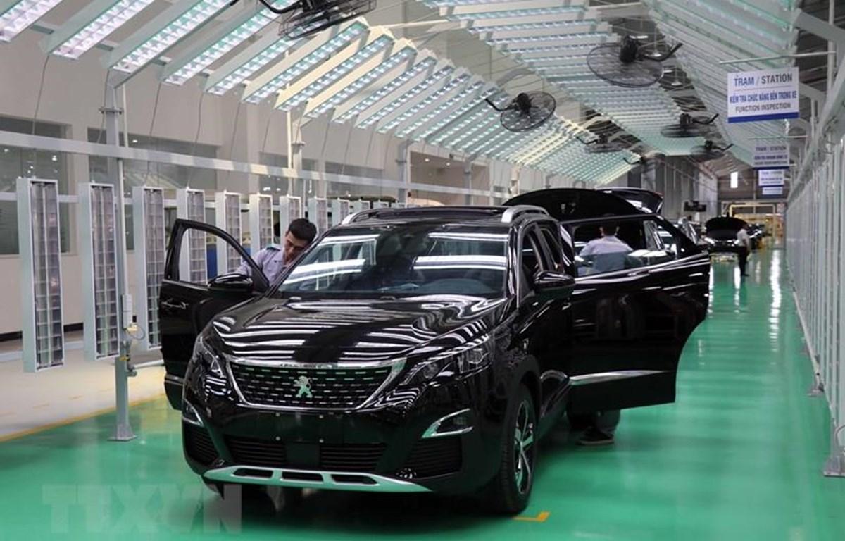 Nhà máy xe du lịch cao cấp của Thaco được đầu tư 4.500 tỷ đồng trên diện tích 7,5ha với công suất 20.000 xe/năm. (Ảnh: Đỗ Trưởng/TTXVN)
