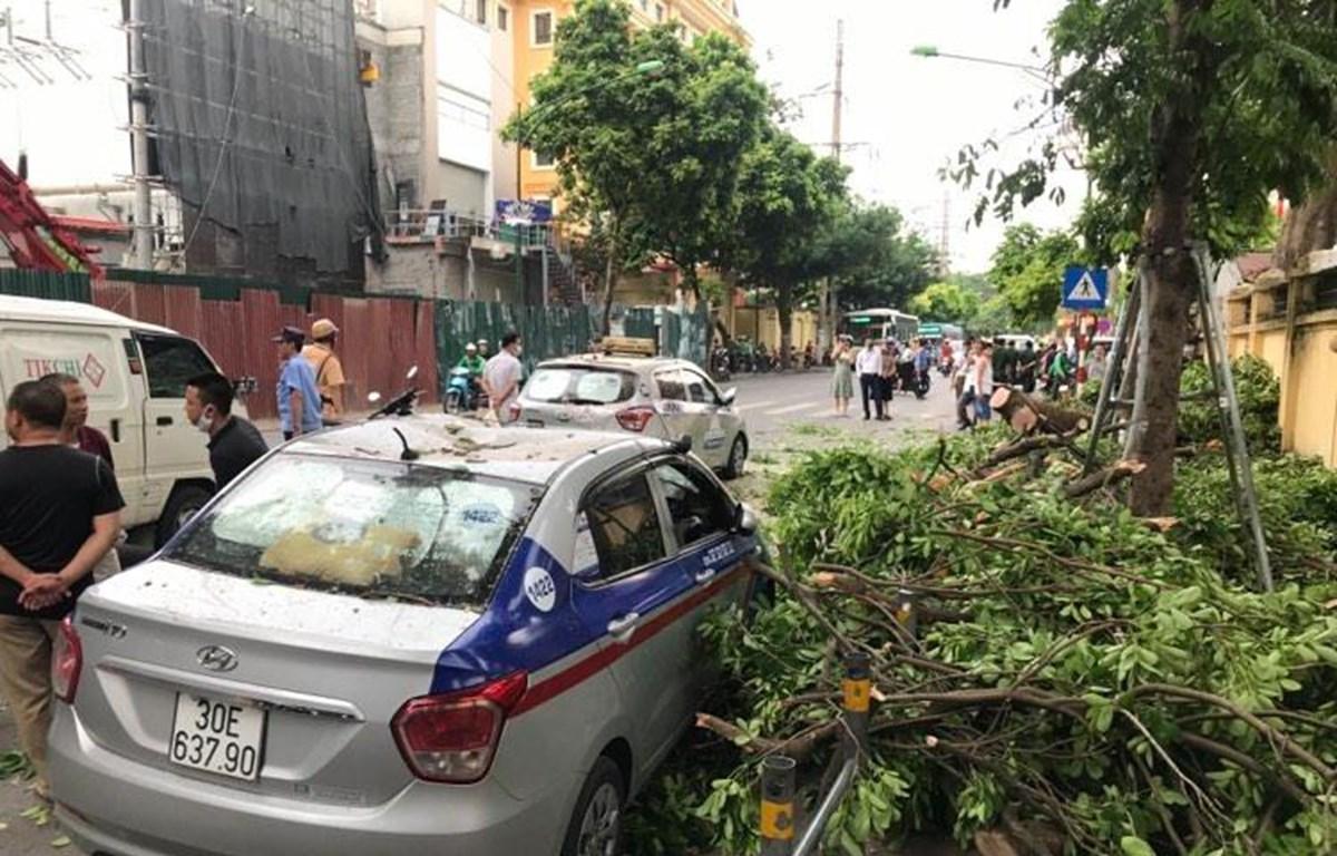 Hiện trường vụ tai nạn. (Ảnh: Minh Hiếu/Vietnam+)