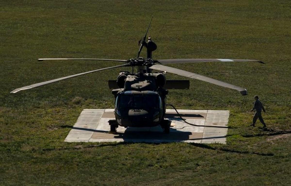 Trực thăng của lực lượng Vệ binh Quốc gia Mỹ. (Ảnh: Washington Post)