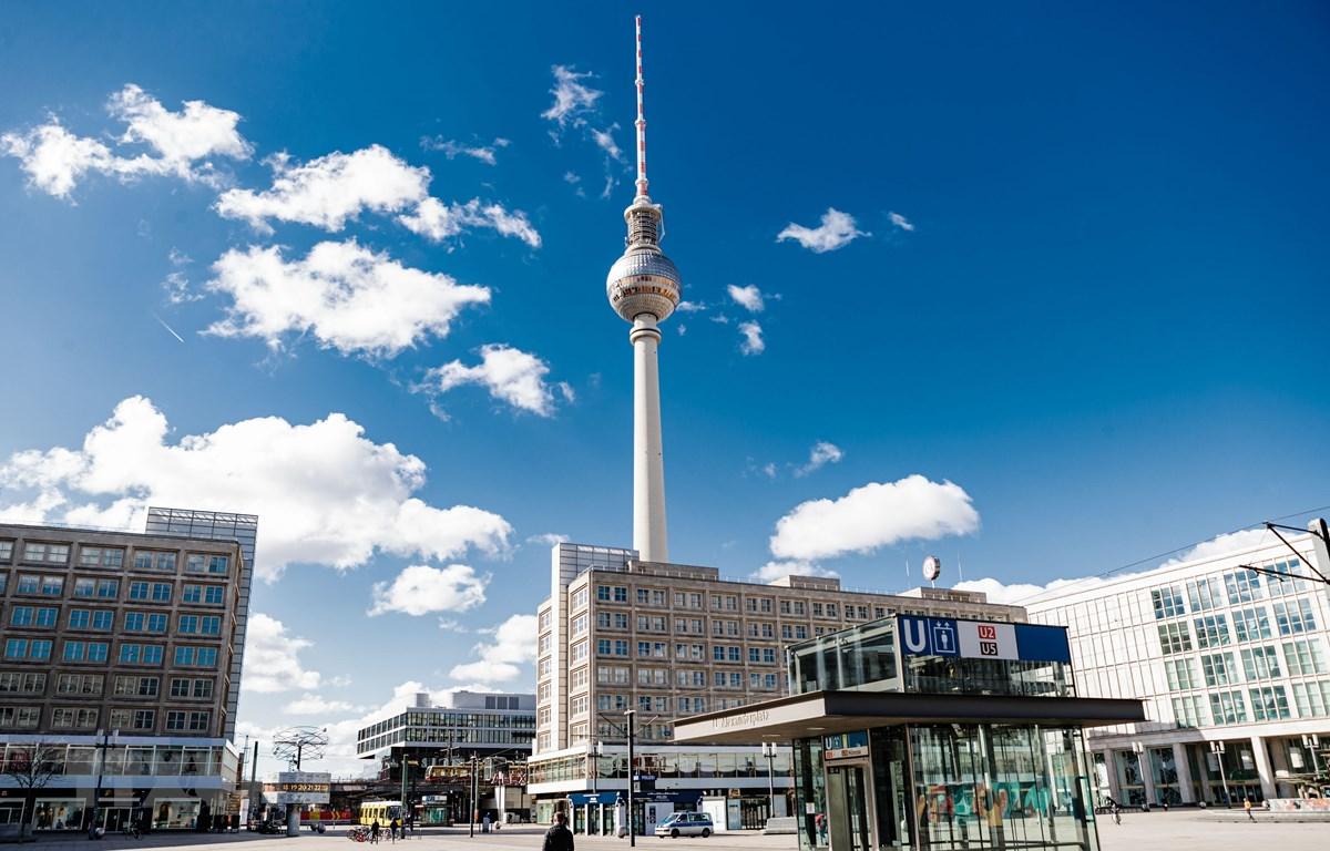 Cảnh vắng vẻ tại Berlin, Đức ngày 22/3/2020, trong bối cảnh dịch COVID-19 lan rộng. (Ảnh: THX/TTXVN)