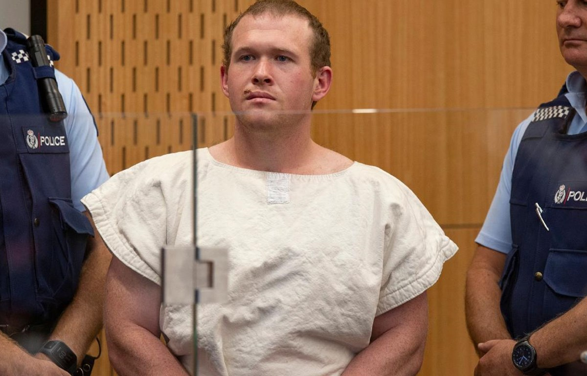 Thủ phạm Brenton Tarrant gây ra vụ xả súng tại Christchurch, New Zealand năm 2019. (Ảnh: AFP)