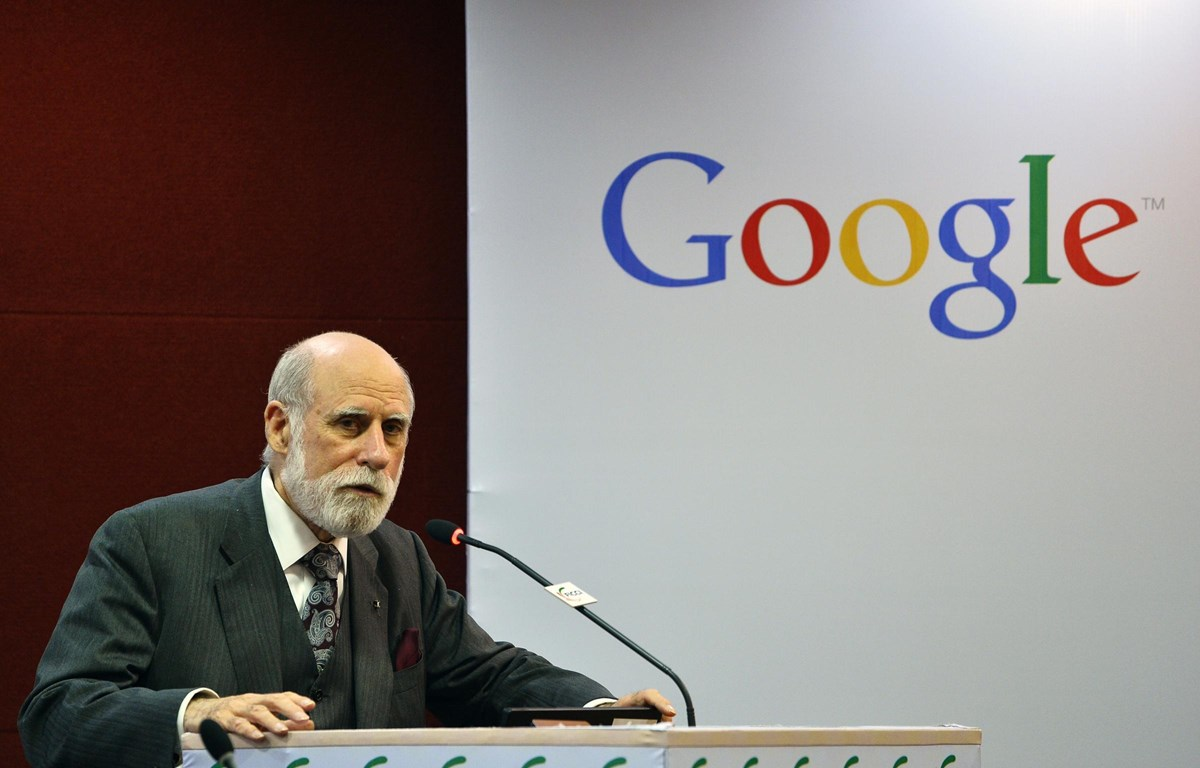 """Vint Cerf, """"cha đẻ"""" của mạng Internet. (Ảnh: AFP)"""