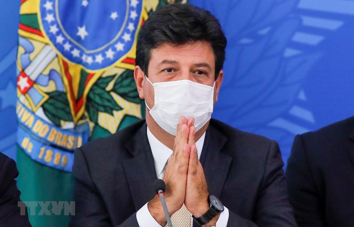 Bộ trưởng Y tế Brazil Luiz Henrique Mandetta tại cuộc họp báo ở Brasilia, Brazil, ngày 18/3/2020. (Ảnh: AFP/TTXVN)