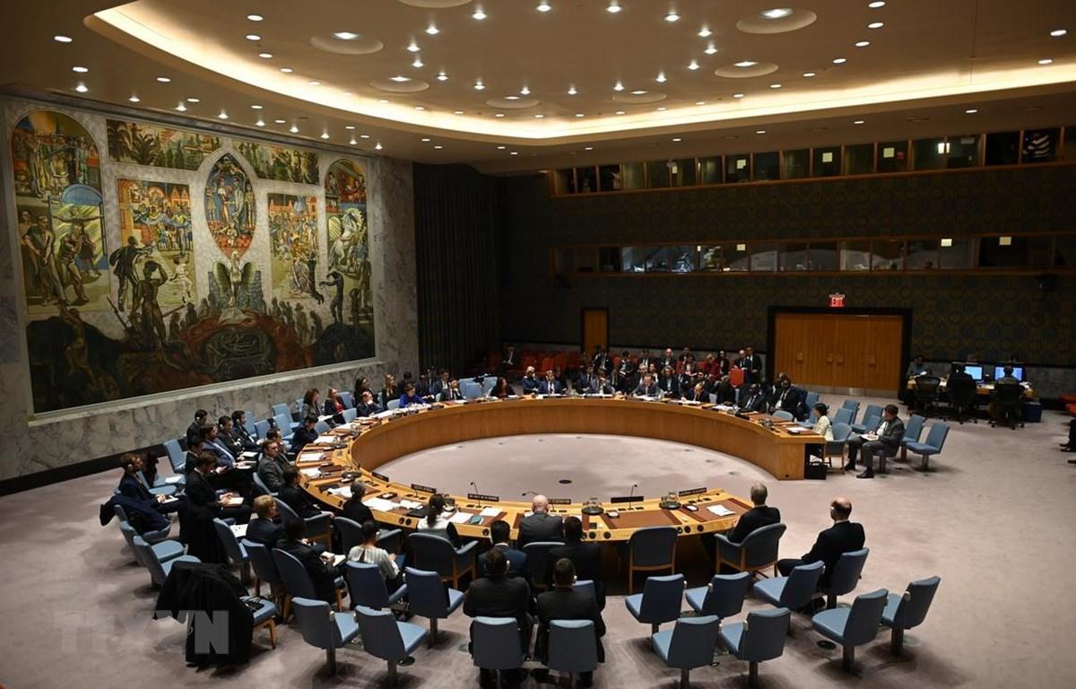 Một cuộc họp của Hội đồng Bảo an LHQ tại New York, Mỹ, ngày 26/2/2020. (Ảnh: AFP/TTXVN)