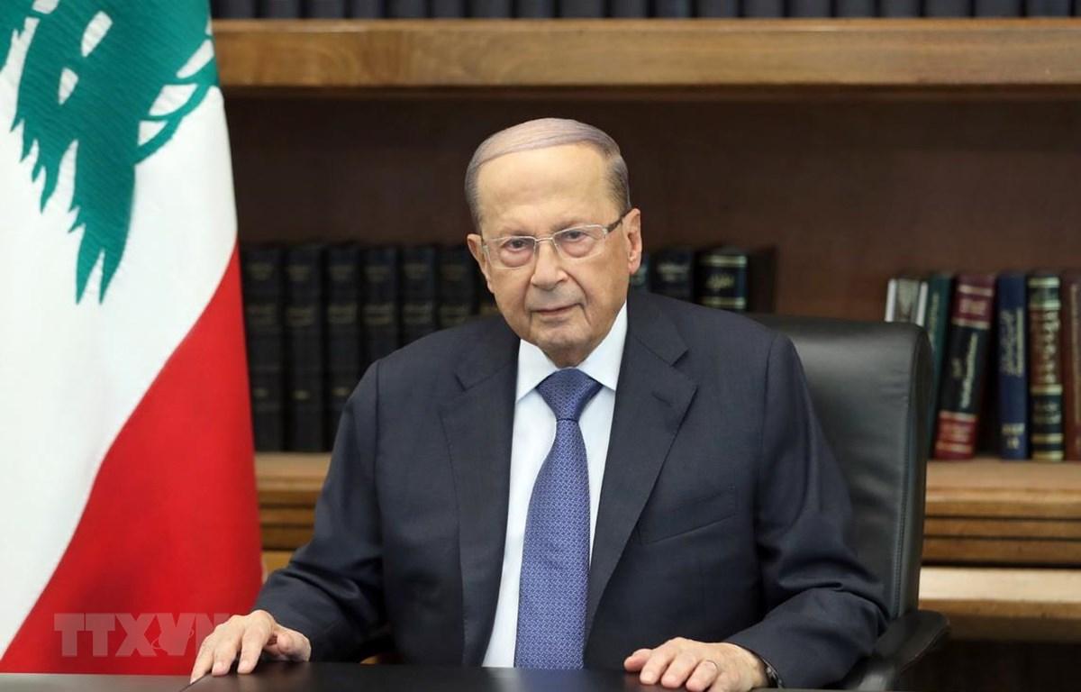Tổng thống Liban Michel Aoun. (Ảnh: AFP/TTXVN)