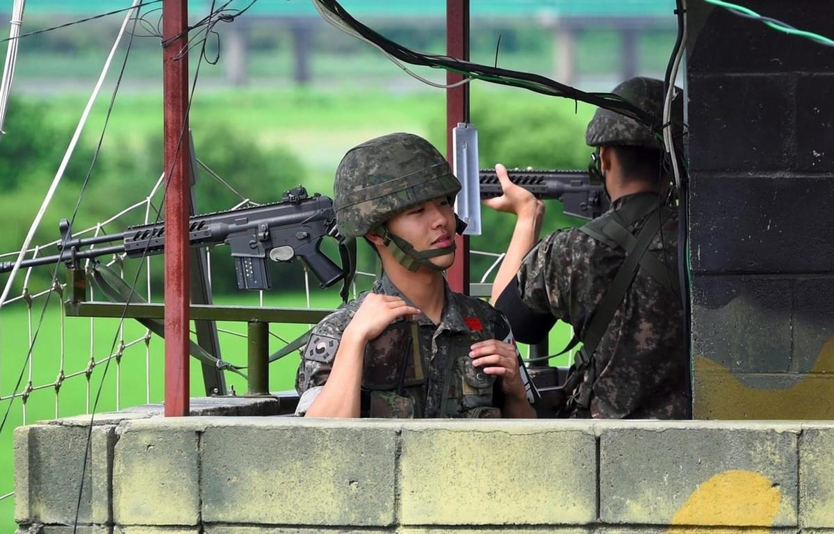 Một trạm gác của Hàn Quốc tại khu phi quân sự liên Triều. (Nguồn: AFP)