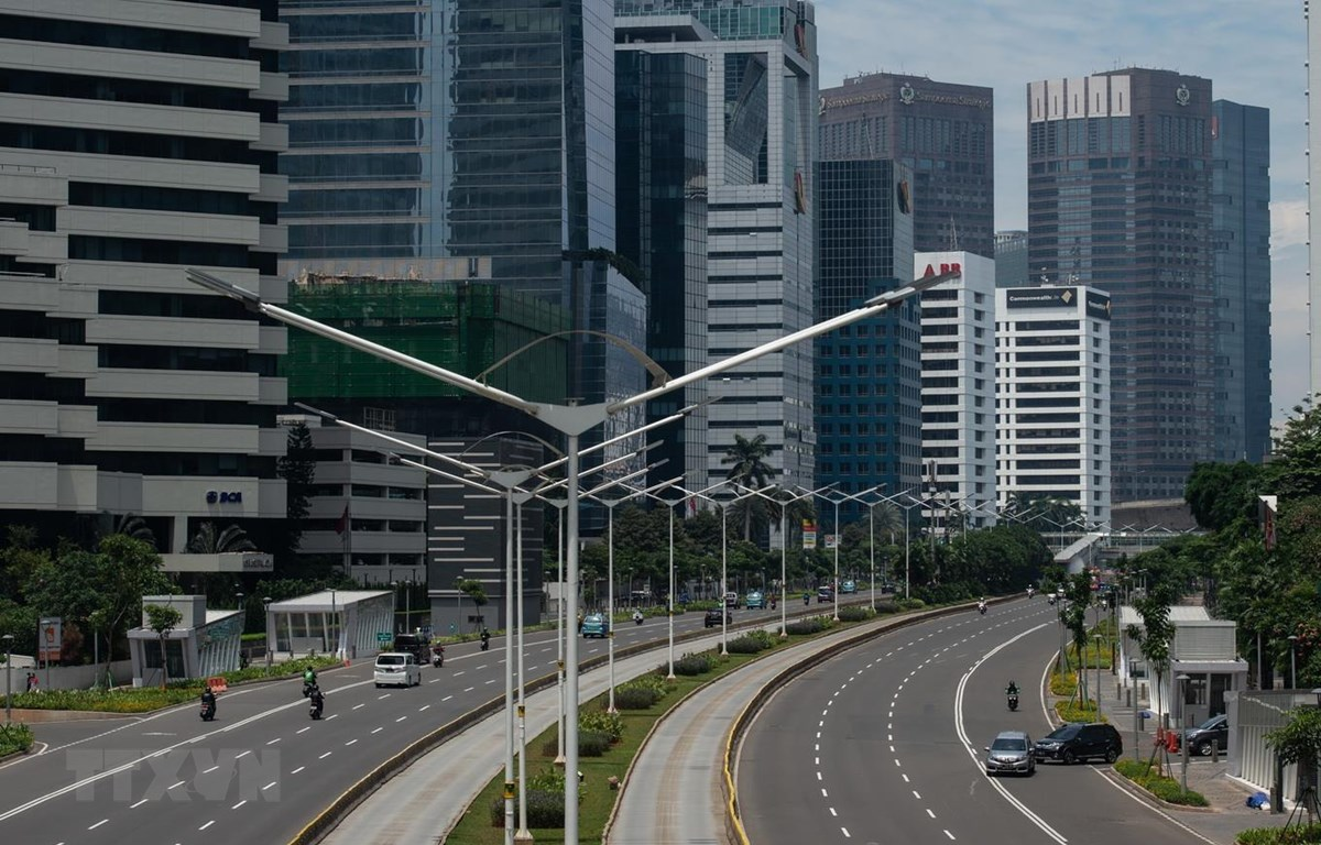 Một tuyến phố ở thủ đô Jakarta, Indonesia ngày 1/4/2020. (Ảnh: THX/TTXVN)
