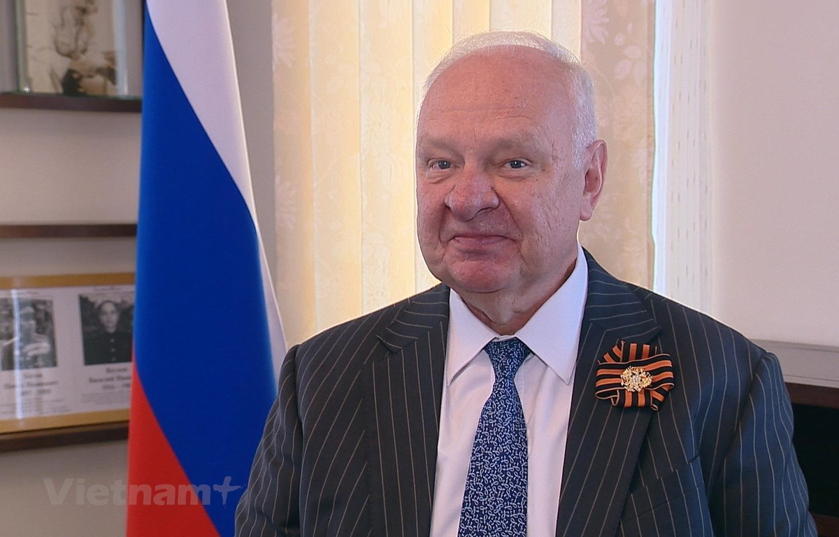Đại sứ đặc mệnh toàn quyền Liên bang Nga tại Việt Nam Konstantin Vasilevych Vnukov. (Ảnh: PV/Vietnam+)