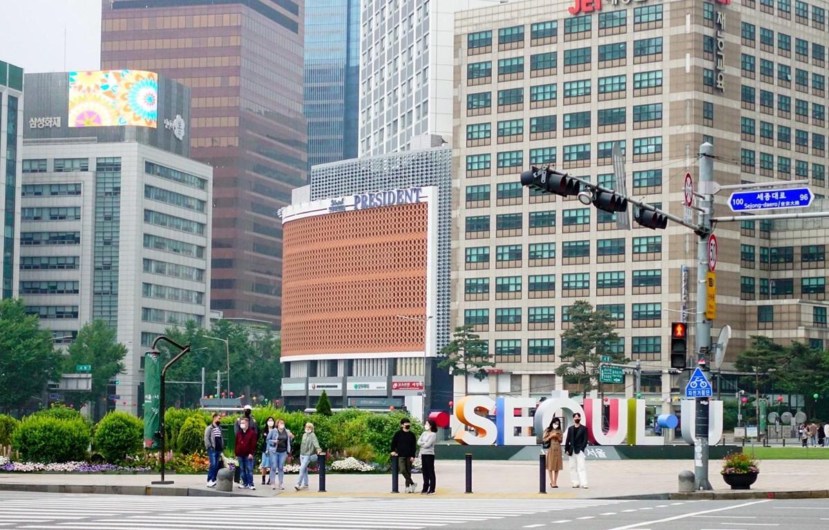 Đường phố ở Seoul, Hàn Quốc ngày 10/5/2020. (Ảnh: THX/ TTXVN)