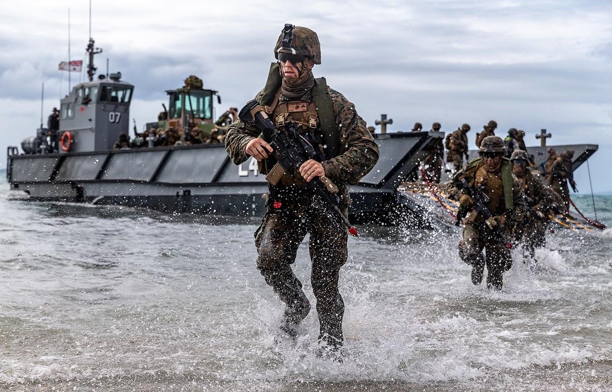 Thủy quân lục chiến Mỹ tập trận đổ bộ tại Bowen, Australia năm 2019. (Nguồn: whs.mil)