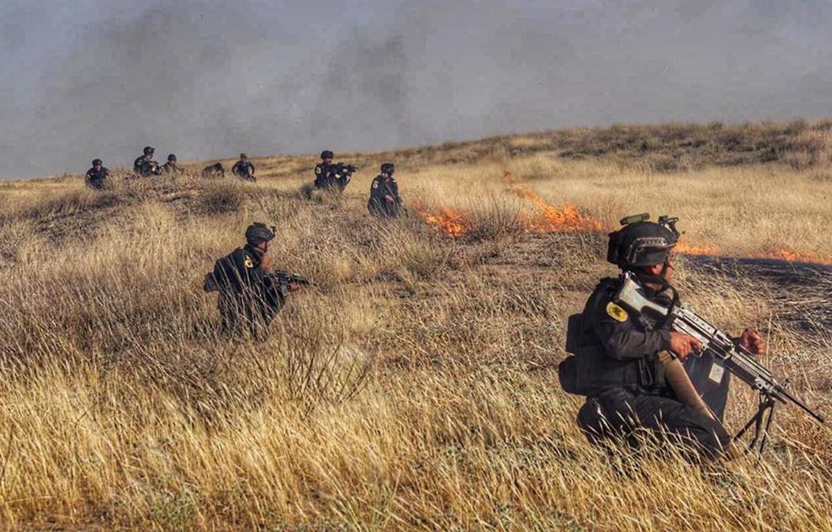 Binh sỹ thuộc Lực lượng chống khủng bố của Iraq tham gia chiến dịch tấn công IS tại Kirkuk. (Nguồn: ICTS)