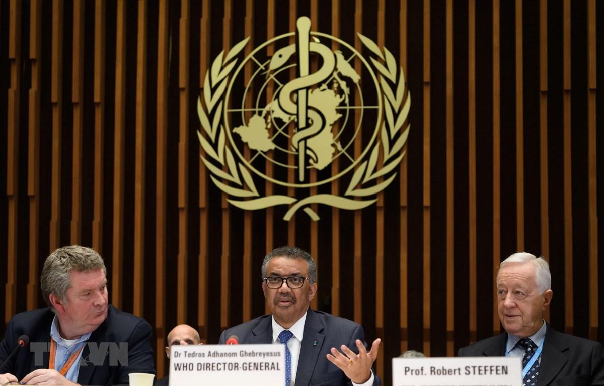 Tổng Giám đốc WHO Tedros Adhanom Ghebreyesus trong cuộc báo sau hội nghị quốc tế về nghiên cứu vắcxin phòng COVID-19, tại Geneva, Thụy Sĩ ngày 12/1/2020. (Ảnh: AFP/TTXVN)