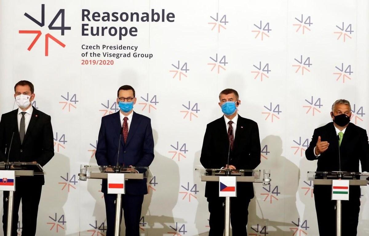 Lãnh đạo nhóm 4 nước Visegrad tại cuộc họp báo ngày 11/6/2020. (Nguồn: Reuters)