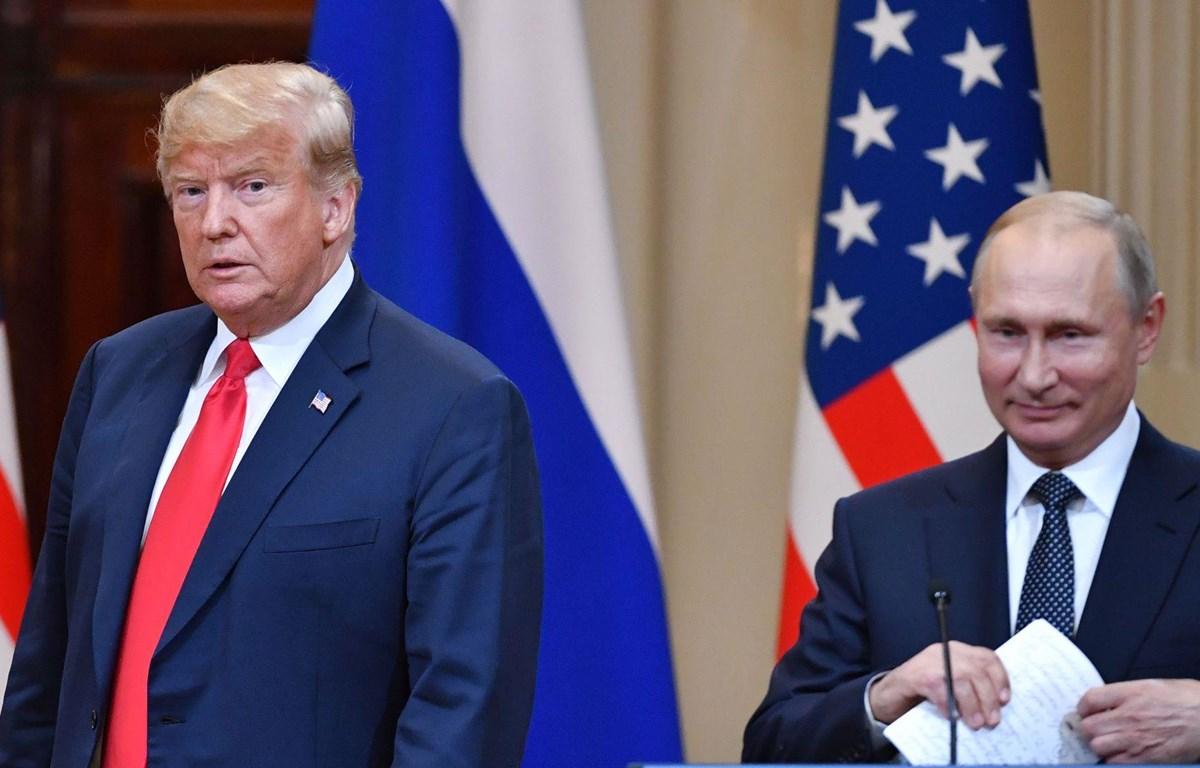 Tổng thống Nga Vladimir Putin và người đồng cấp Mỹ Donald Trump. (Nguồn: AFP)