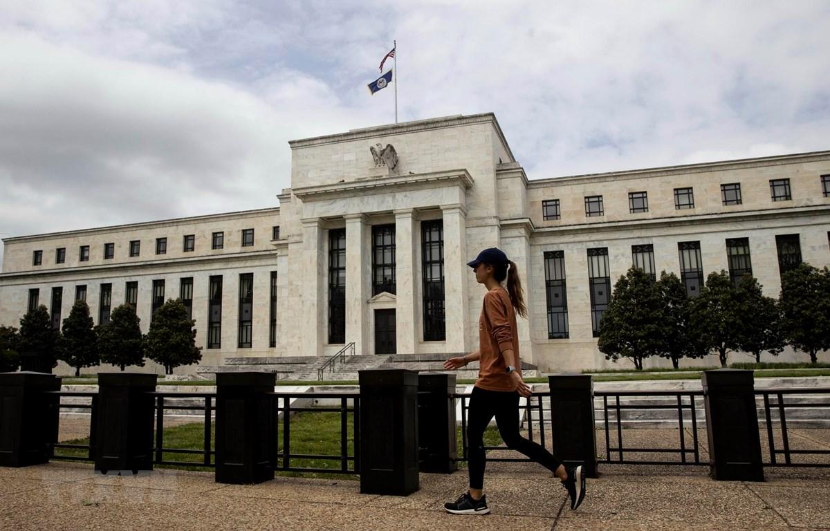 Trụ sở Cục dự trữ liên bang Mỹ (Fed) tại Washington D.C., ngày 21/5/2020. (Ảnh: THX/TTXVN)