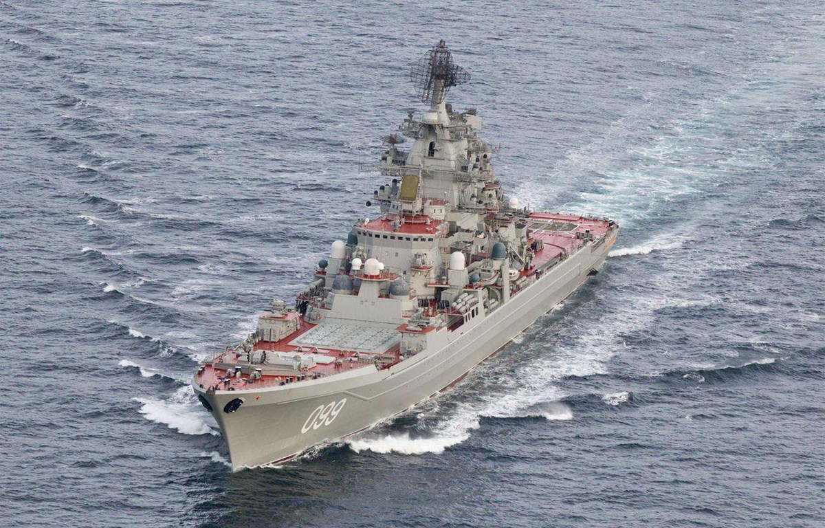 """tàu tên lửa hạng nặng chạy bằng năng lượng nguyên tử """"Đô đốc Nakhimov."""" (Nguồn: The National Interest)"""