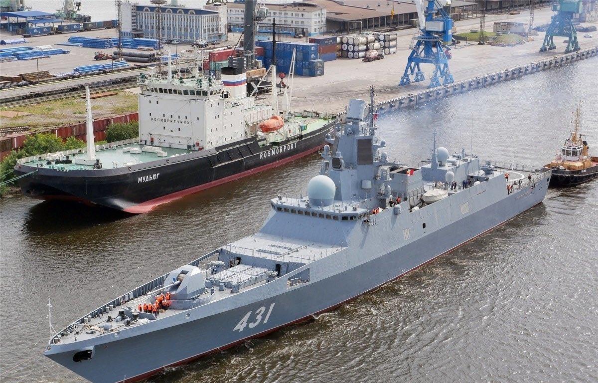 Tàu khu trục Đô đốc Kasatonov đã được phiên chế cho Hải quân Nga. (Nguồn: TASS)