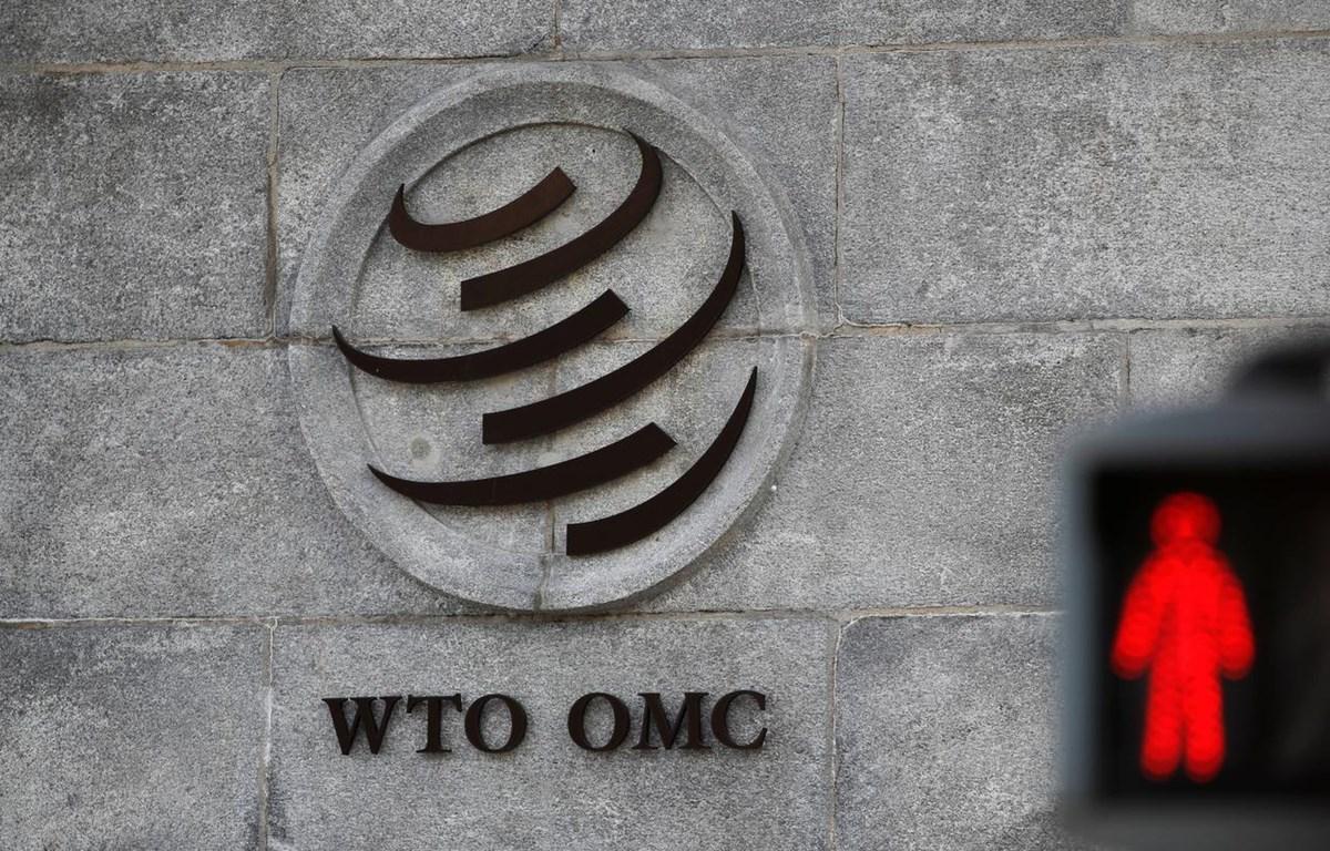 Logo bên ngoài trụ sở WTO ở Geneva, Thụy Sĩ. (Nguồn: Reuters)