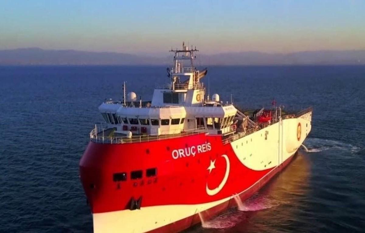 Tàu nghiên cứu địa chất Oruc Reis của Thổ Nhĩ Kỳ đã được điều tới hoạt động ở phía Đông Địa Trung Hải. (Nguồn: Greek City Times)