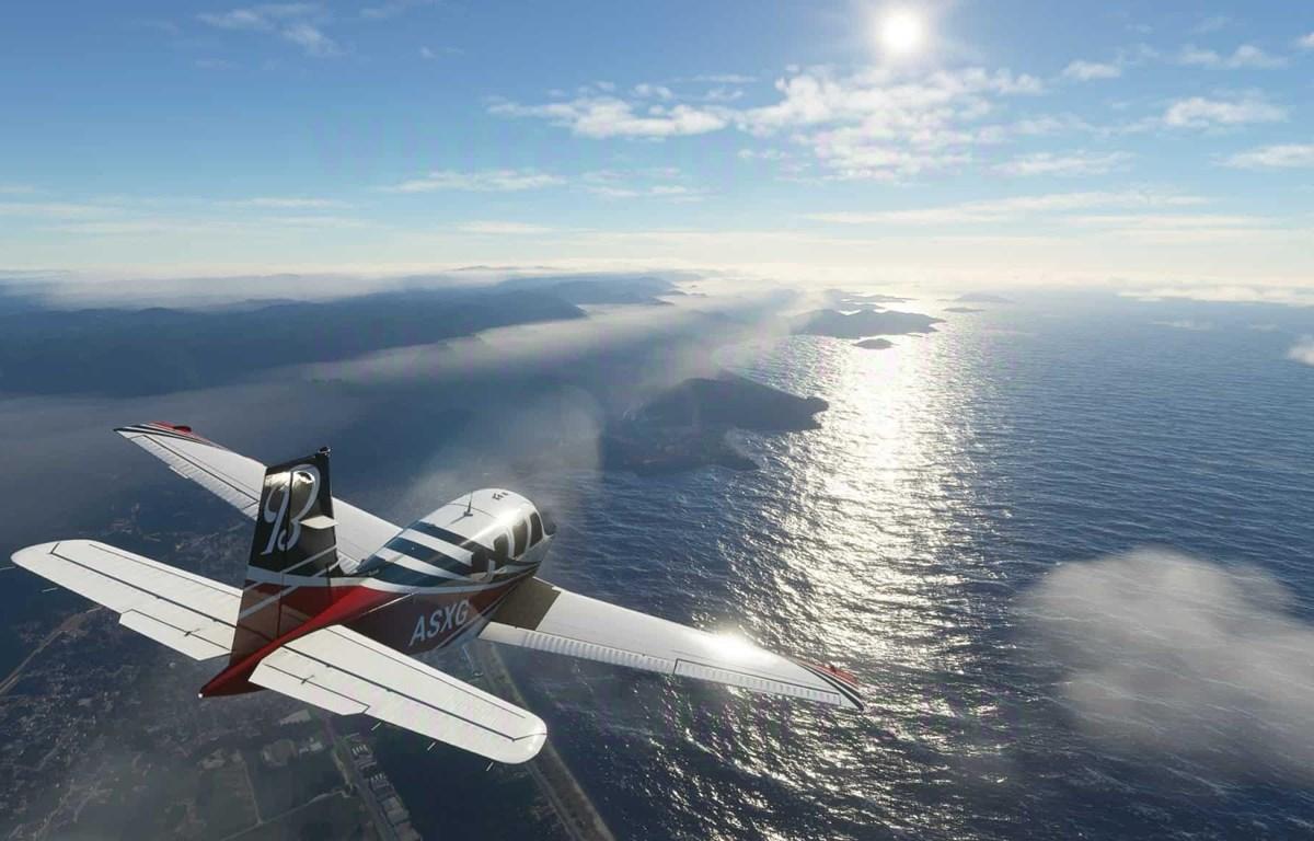 Hình ảnh chân thực, sống động trong game giả lập lái máy bay Microsoft Flight Simulator 2020. (Nguồn: Microsoft)