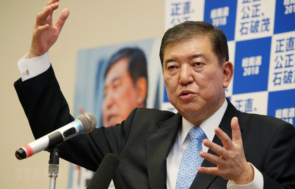Các cuộc thăm dò dư luận cho thấy cựu Bộ trưởng Quốc phòng Shigeru Ishiba đang là sự lựa chọn hàng đầu của các cử tri để kế nhiệm Thủ tướng Nhật Bản Shinzo Abe. (Ảnh: AFP/TTXVN)