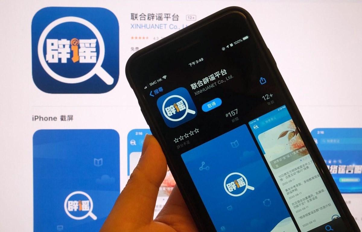 Ứng dụng chống tin giả do Trung Quốc phát triển. (Nguồn: scmp.com)