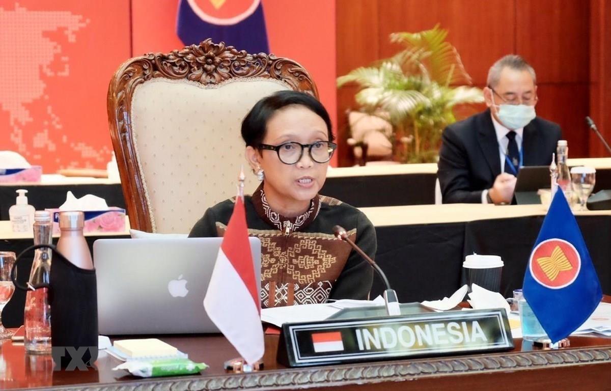 Ngoại trưởng Indonesia Retno Marsudi. (Ảnh: TTXVN phát)