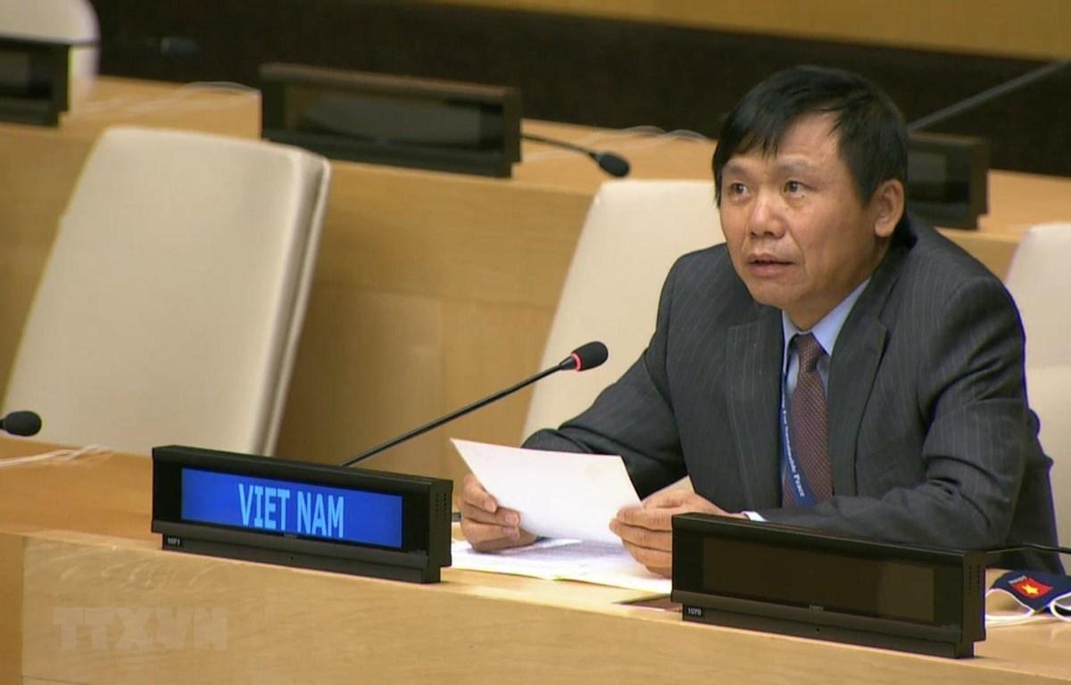 Đại sứ Đặng Đình Quý - Trưởng phái đoàn đại diện thường trực Việt Nam tại Liên hợp quốc. (Ảnh: Hữu Thanh/TTXVN)