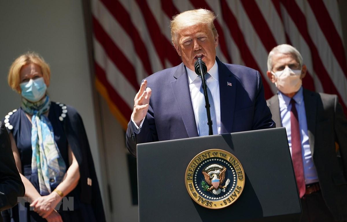 Tổng thống Mỹ Donald Trump tại cuộc họp báo ở Washington, DC, Mỹ, ngày 15/9/2020. (Ảnh: AFP/TTXVN)