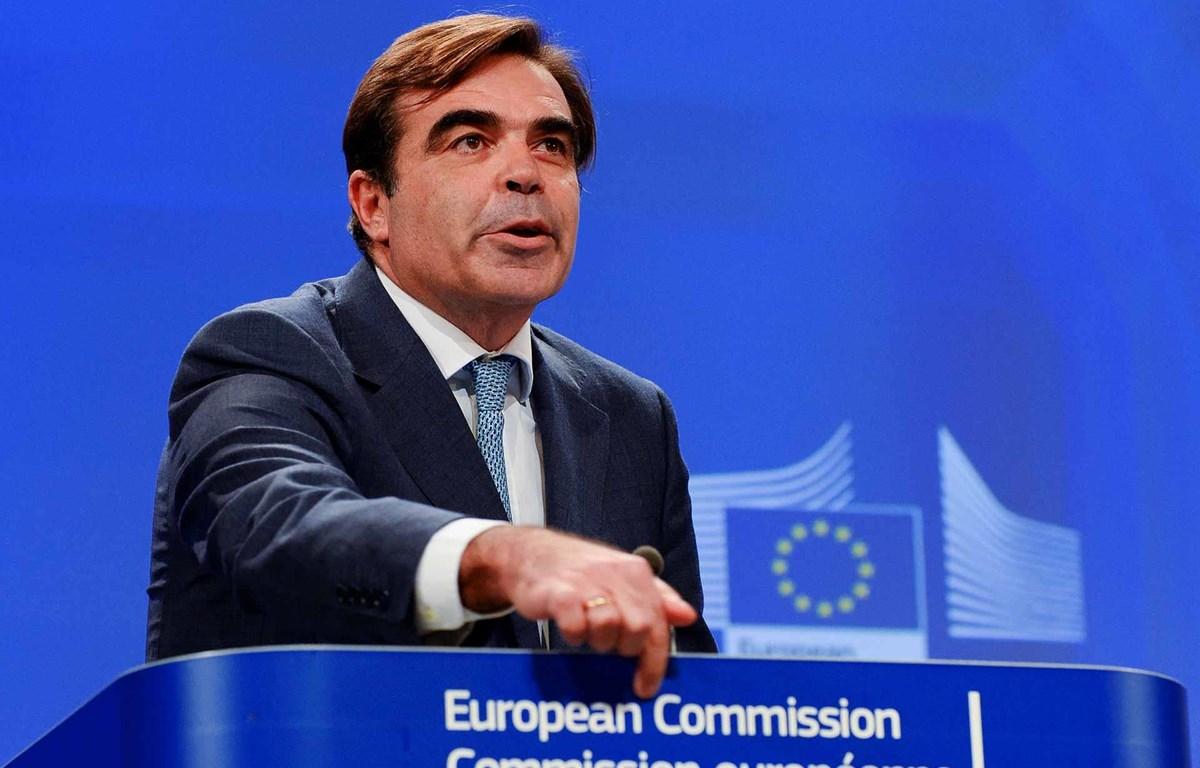Phó Chủ tịch Ủy ban châu Âu (EC) Margaritis Schinas có kết quả dương tính với virus SARS-CoV-2. (Nguồn: AFP)