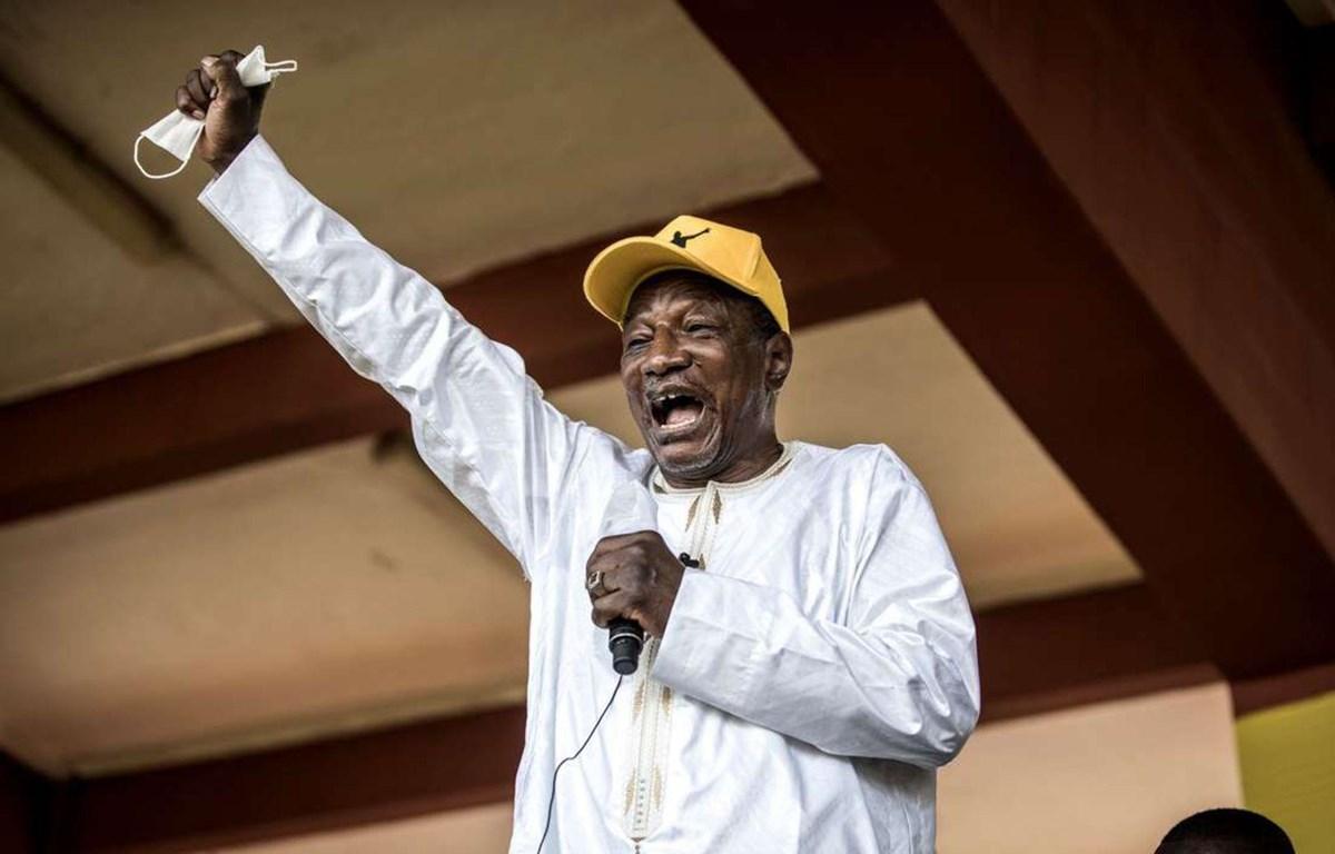 Tổng thống Alpha Conde được thông báo tái đắc cử nhiệm kỳ thứ 3 liên tiếp. (Nguồn: AFP)