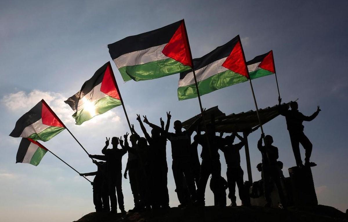 Palestine tuyên bố sẵn sàng quay trở lại bàn đàm phán với Israel dựa trên cơ sở luật pháp quốc tế. (Ảnh: AFP)