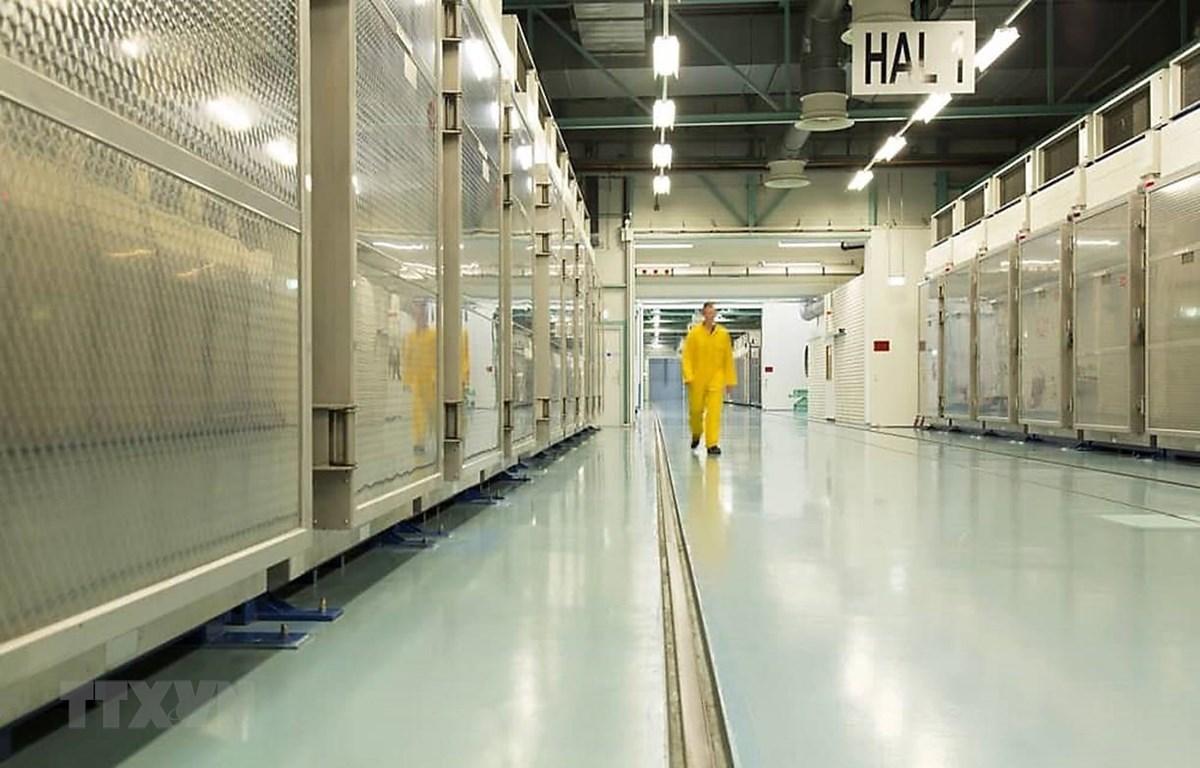 Bên trong một cơ sở làm giàu uranium ở Qom, Iran. (Ảnh: AFP/TTXVN)