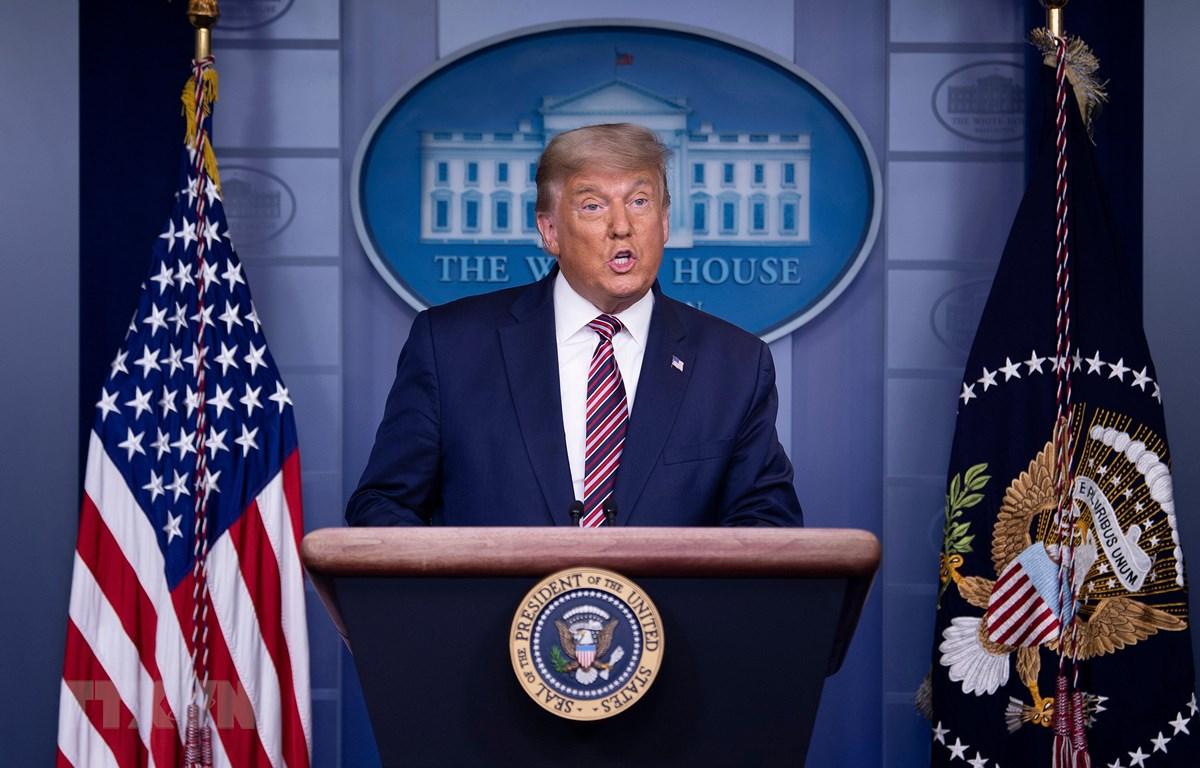Tổng thống Mỹ Donald Trump phát biểu tại cuộc họp báo ở Washington, DC ngày 5/11/2020. (Ảnh: AFP/TTXVN)